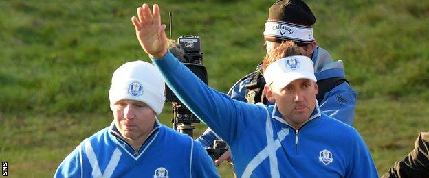 Stephen Gallacher and Ian Poulter