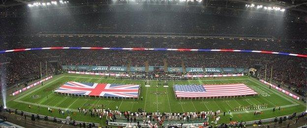 Wembley Stadium ahead of the NFL International Series game between San Francisco 49ers and Jacksonville Jaguars in 2013