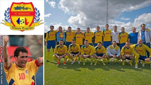 Former Romania captain Gheorghe Hagi and FC Romania