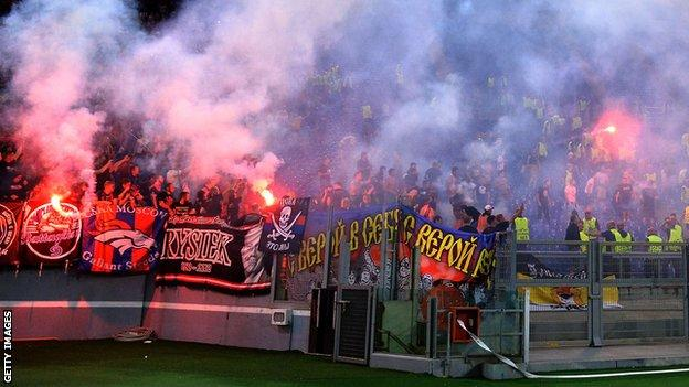 CSKA fans clash with police in Rome