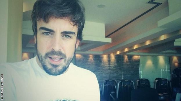 Fernando Alonso at the gym preparing for the Japanese Gradn Prix