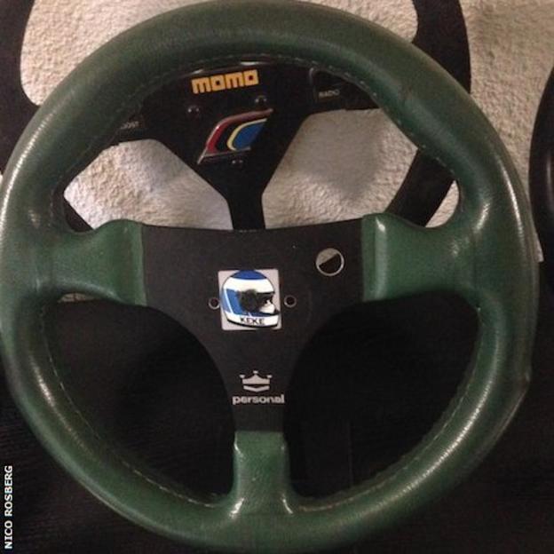 Keke Rosberg's steering wheel from his 1982 title-winning Williams