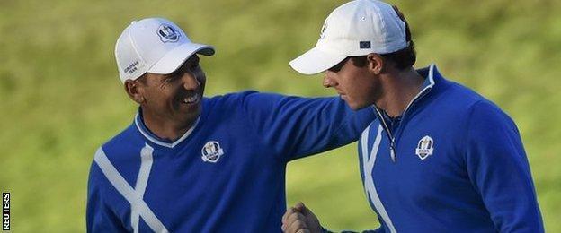 Sergio Garcia and Rory McIlroy