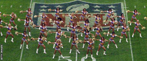 NFL cheerleaders perform at Wembley in 2013