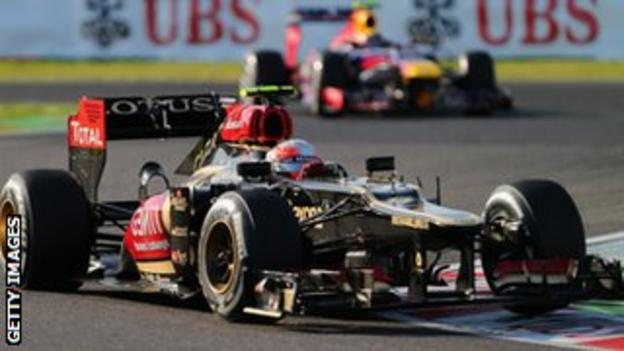 Romain Grosjean at 2013 Japanese Grand Prix