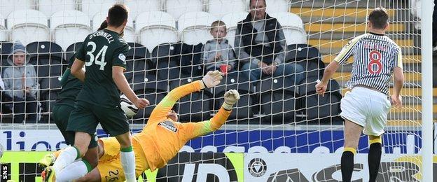 Kenny McLean scores for St Mirren against Celtic