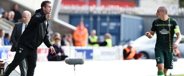 Celtic manager Ronny Deila and captain Scott Brown