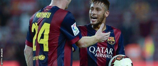 Neymar scores in Barcelona win