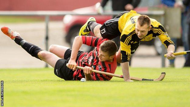 Oban Camanachd's match with Fort William was abandoned