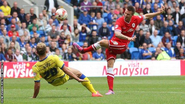 Anthony Pilkington was a £1m buy for Cardiff from Norwich in August 2014