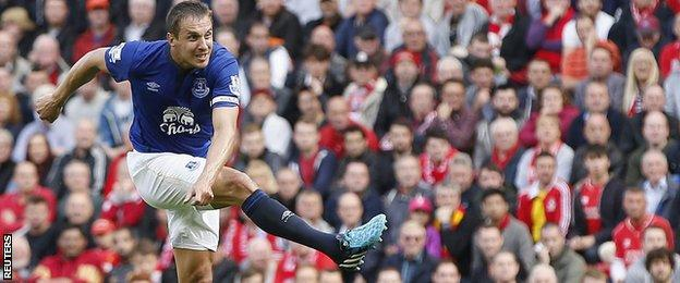 Everton defender Phil Jagielka