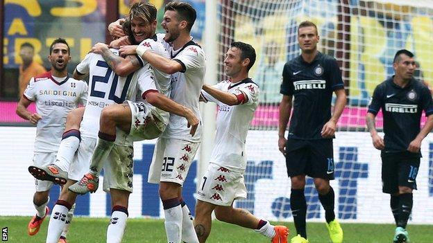 Inter Milan lose heavily to Cagliari