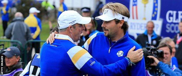Paul McGinley and Victor Dubuisson