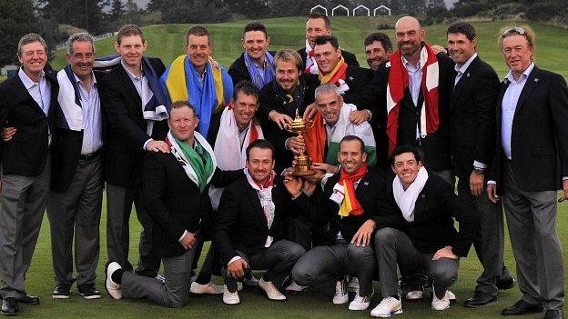 Europe's victorious Ryder Cup team