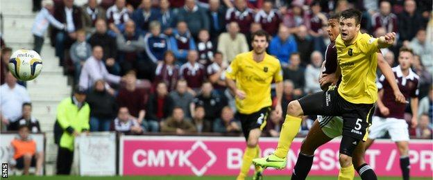 Osman Sow's brace took his Hearts tally to six