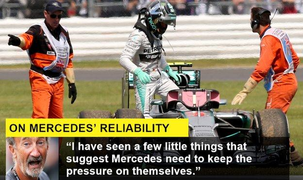 Nico Rosberg retires from a Grand Prix
