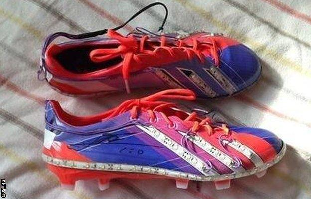 Boots worn by Lionel Messi