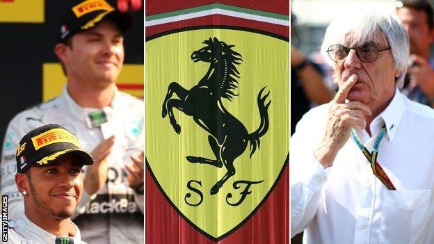 Nico Rosberg, Lewis Hamilton, Ferrari & Bernie Ecclestone