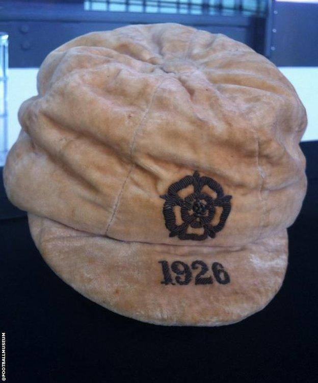 A cap won by England captain Sam Wadsworth