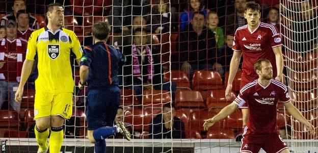 Mark Reynolds (right) is left dejected after giving away the late penalty that allowed St Mirren to snatch a point