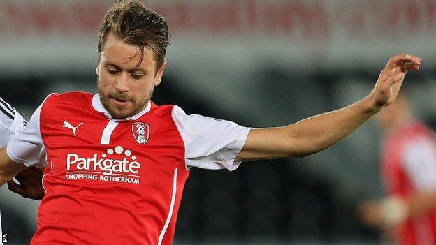 Rotherham United player Kari Arnason