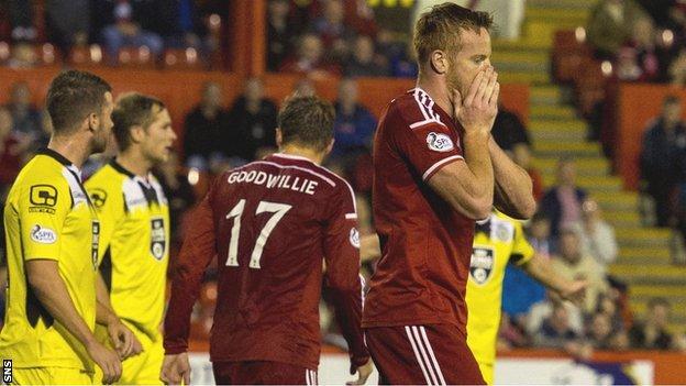 Frustrated Aberdeen striker Adam Rooney