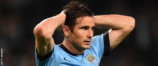Manchester City midfielder Frank Lampard