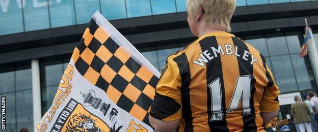 Hull City fan at Wembley