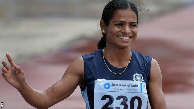 Indian sprinter Dutee Chand