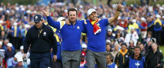 Graeme McDowell (left) and Sergio Garcia