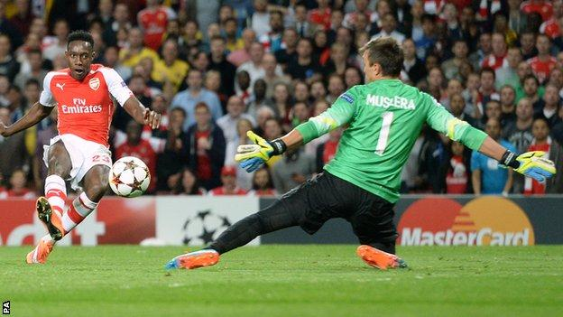 Danny Welbeck scored for Arsenal against Galatasaray