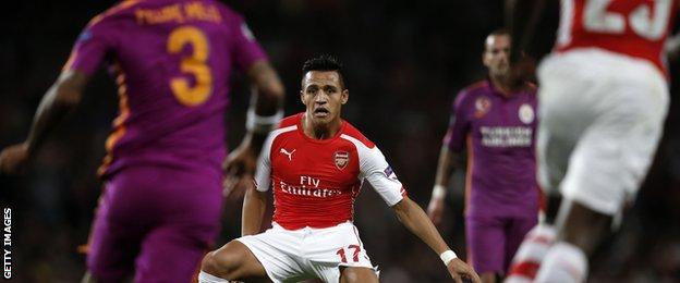 Alexis Sanchez scored Arsenal's third against Galatasaray