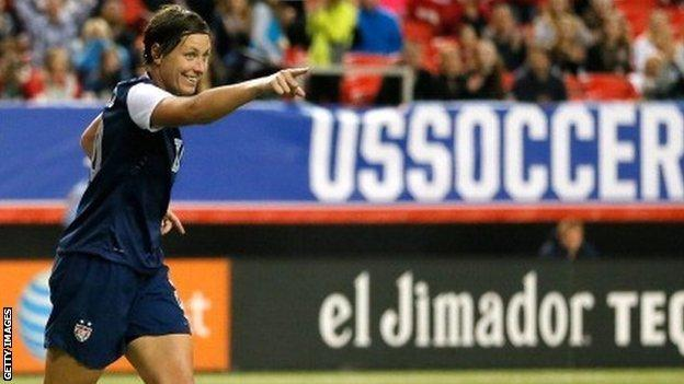 Abby Wambach of the United States