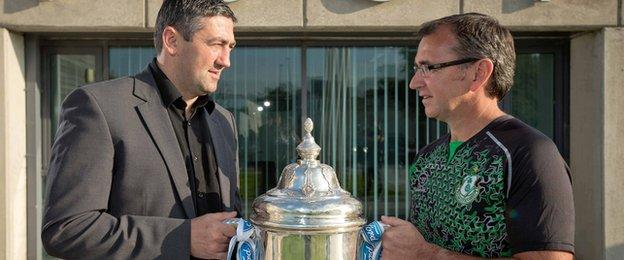 FAI Cup glory is the target for City boss Peter Hutton and Rovers manager Pat Fenlon