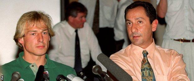 Ossie Ardiles was Spurs boss when Klinsmann moved to White Hart Lane in 1994