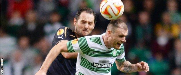 Anthony Stokes led the attack for Celtic
