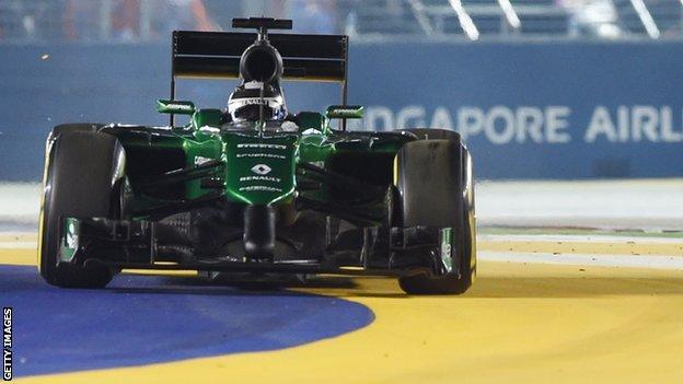 Caterham Marcus Ericsson Singapore Grand Prix