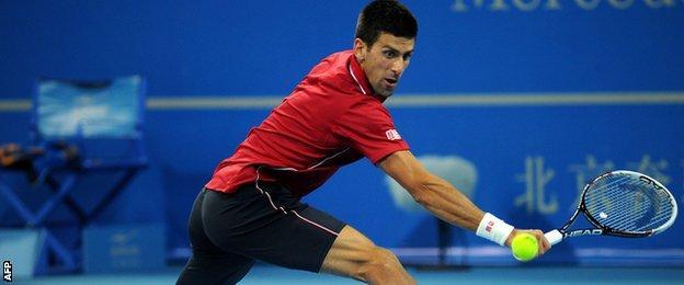 Novak Djokovic at the China Open