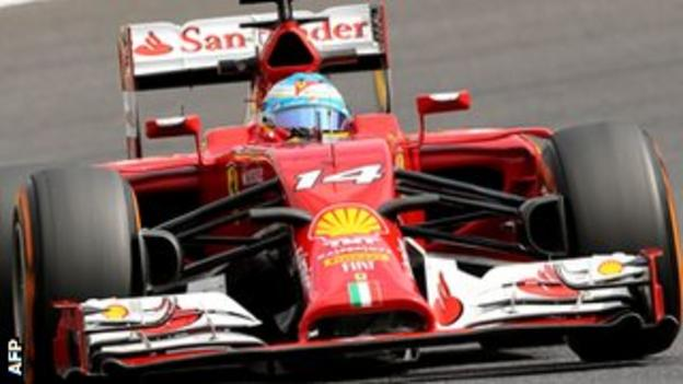 Fernando Alonso at the Japanese GP
