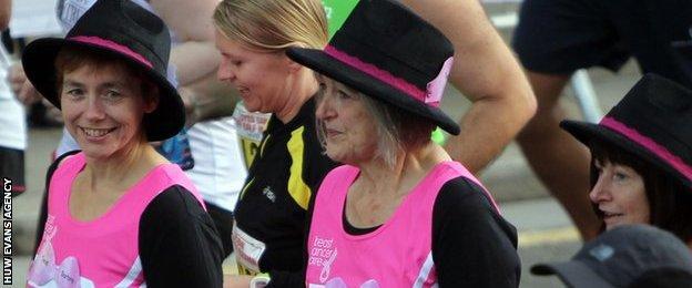 Fun runners at the 2013 Cardiff Half Marathon