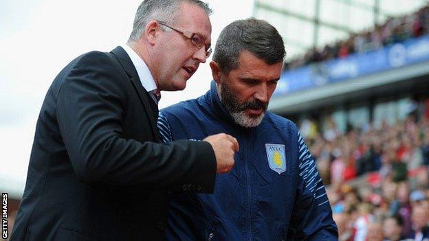 Paul Lambert (left) with Roy Keane
