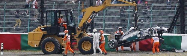 Lewis Hamilton's car is towed away