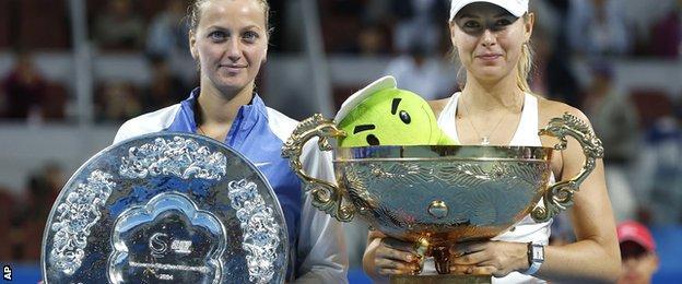 Petra Kvitova and Maria Sharapova
