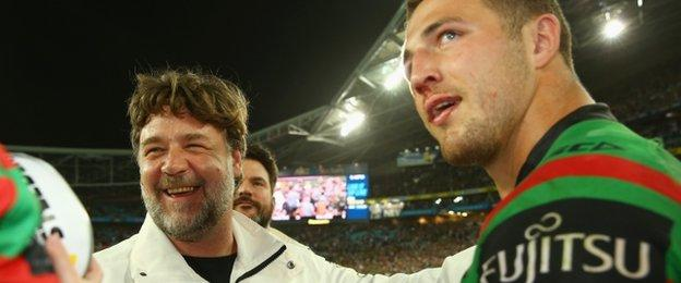 Russell Crowe and Sam Burgess