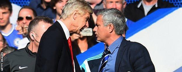 Arsenal manager Arsene Wenger and Chelsea boss Jose Mourinho