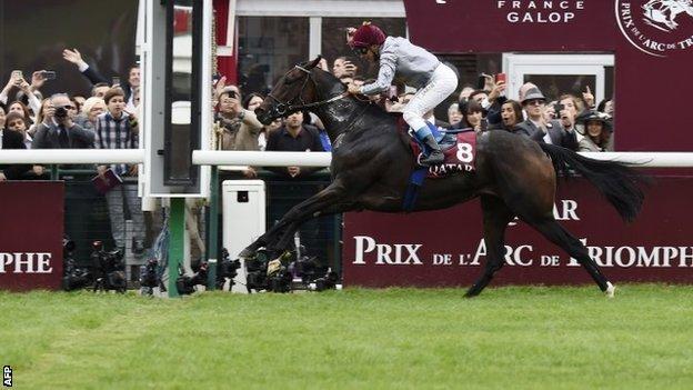 Treve wins the 2014 Arc at Longchamp