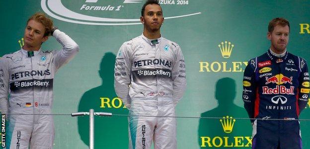 Japan Grand Prix Podium