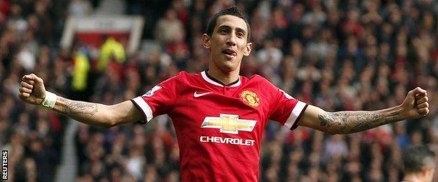 Manchester United player Angel Di Maria