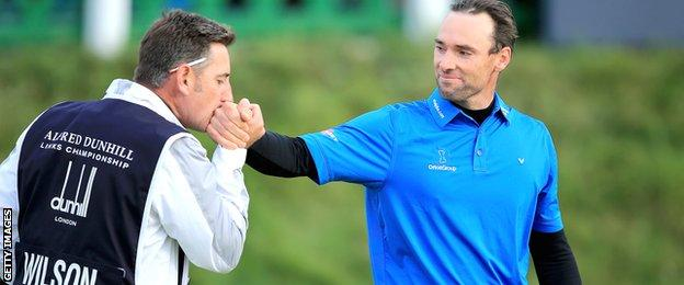 Oliver Wilson and caddie John Dempster