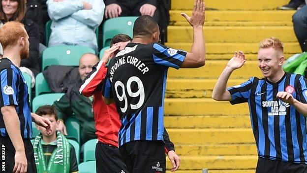 Hamilton were 1-0 winners at Celtic Park on Sunday